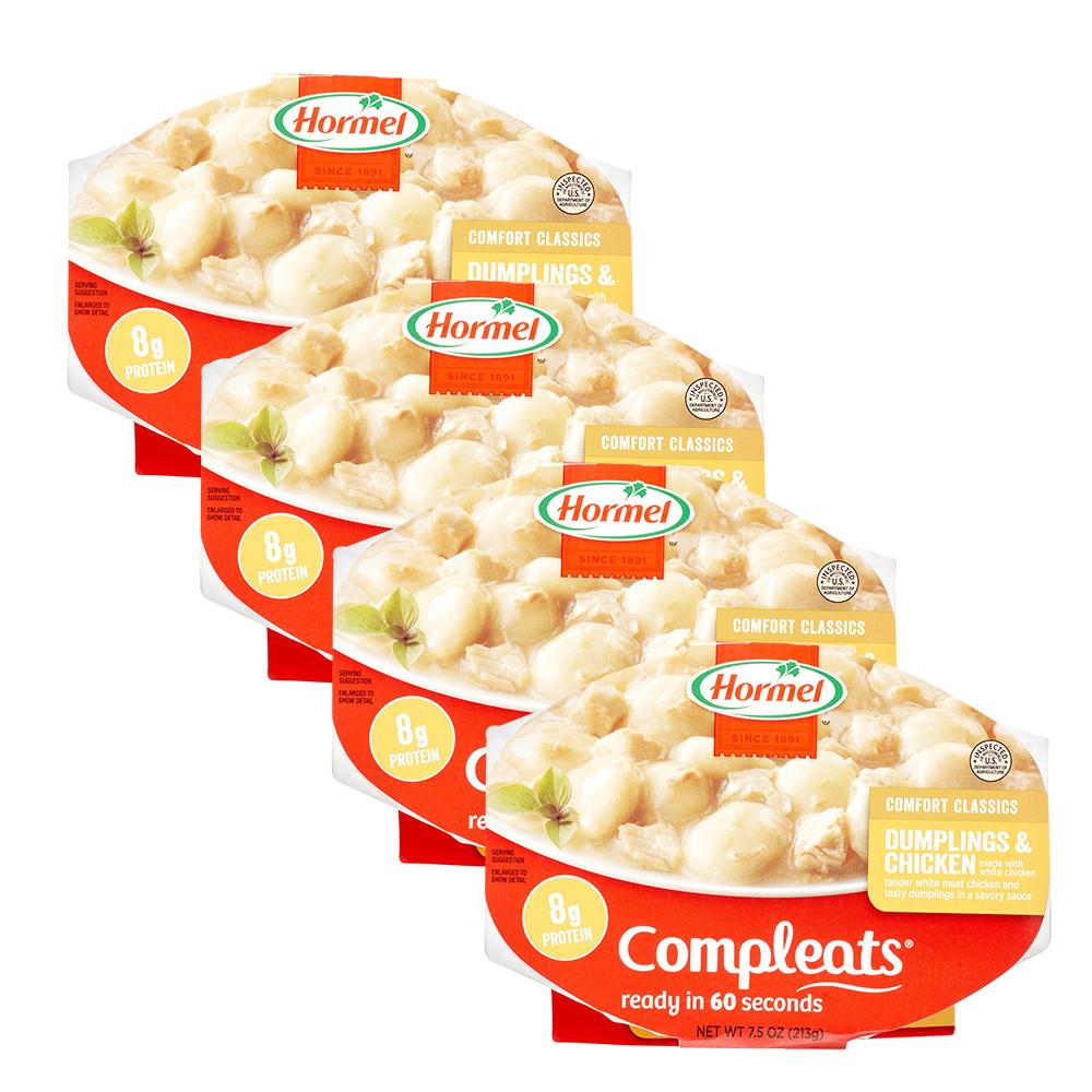 (4 Pack) Hormel Compleats Dumplings & Chicken, 7.5 Ounce