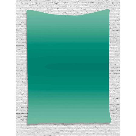 Ombre Tapestry, Ocean Sea Waves Inspired Light Teal Color Design for Room Decorations Digital Print, Wall Hanging for Bedroom Living Room Dorm Decor, 40W X 60L Inches, Teal, by Ambesonne ()