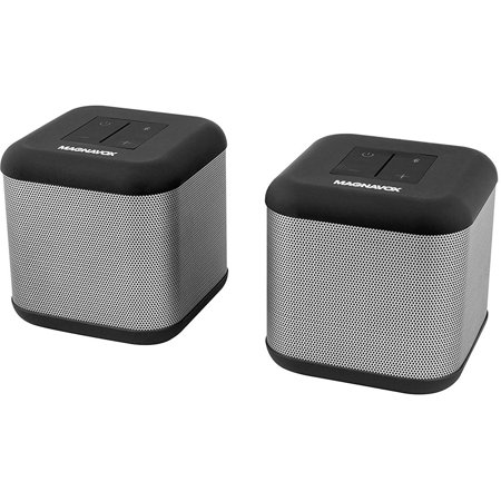 Magnavox Pair of Bluetooth Speakers w/360 DSP & Independent & True Stereo -