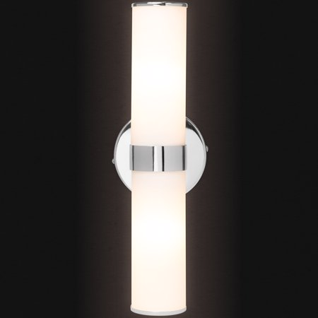 Best Choice Products Decorative Cylindrical Double Head Glass Wall Light for Bathroom, Bedroom with Opaque Glass,