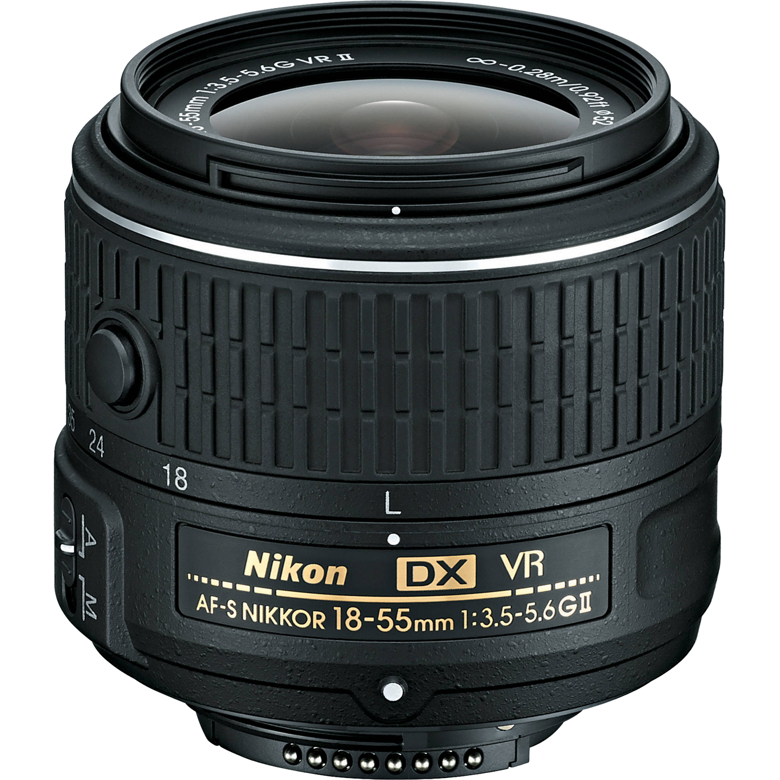 Nikon 18-55mm f/3.5-5.6G VR II DX AF-S Zoom-Nikkor Lens - Factory Refurbished includes Full 1 Year Warranty