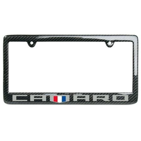 Camaro 6th Generation Carbon Fiber License Plate Frame (Badge (Logo Carbon Fiber)