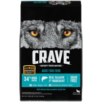 CRAVE Grain Free Adult Dry Dog Food with Protein from Salmon and Ocean Fish, 22 lb. Bag