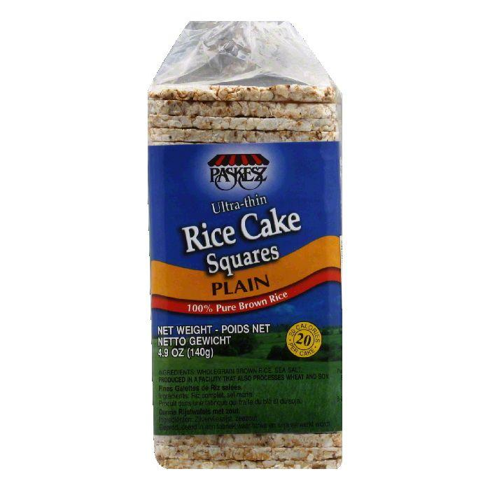 Paskesz Joray Rice Cake Squares Plain Thin, 4.9 OZ (Pack of 12)