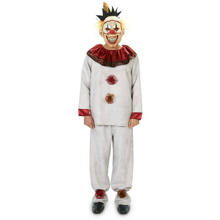 Carn-Evil Lively Clown and Mask Halloween Accessory Men's Adult Halloween Costume - Clown Costume Accessories Adults