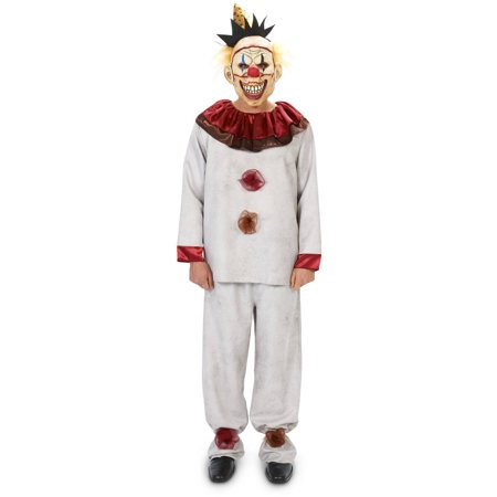 Carn-Evil Lively Clown and Mask Halloween Accessory Men's Adult Halloween Costume