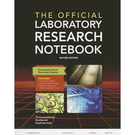 - The Official Laboratory Research Notebook (75 Duplicate Sets) (Paperback)