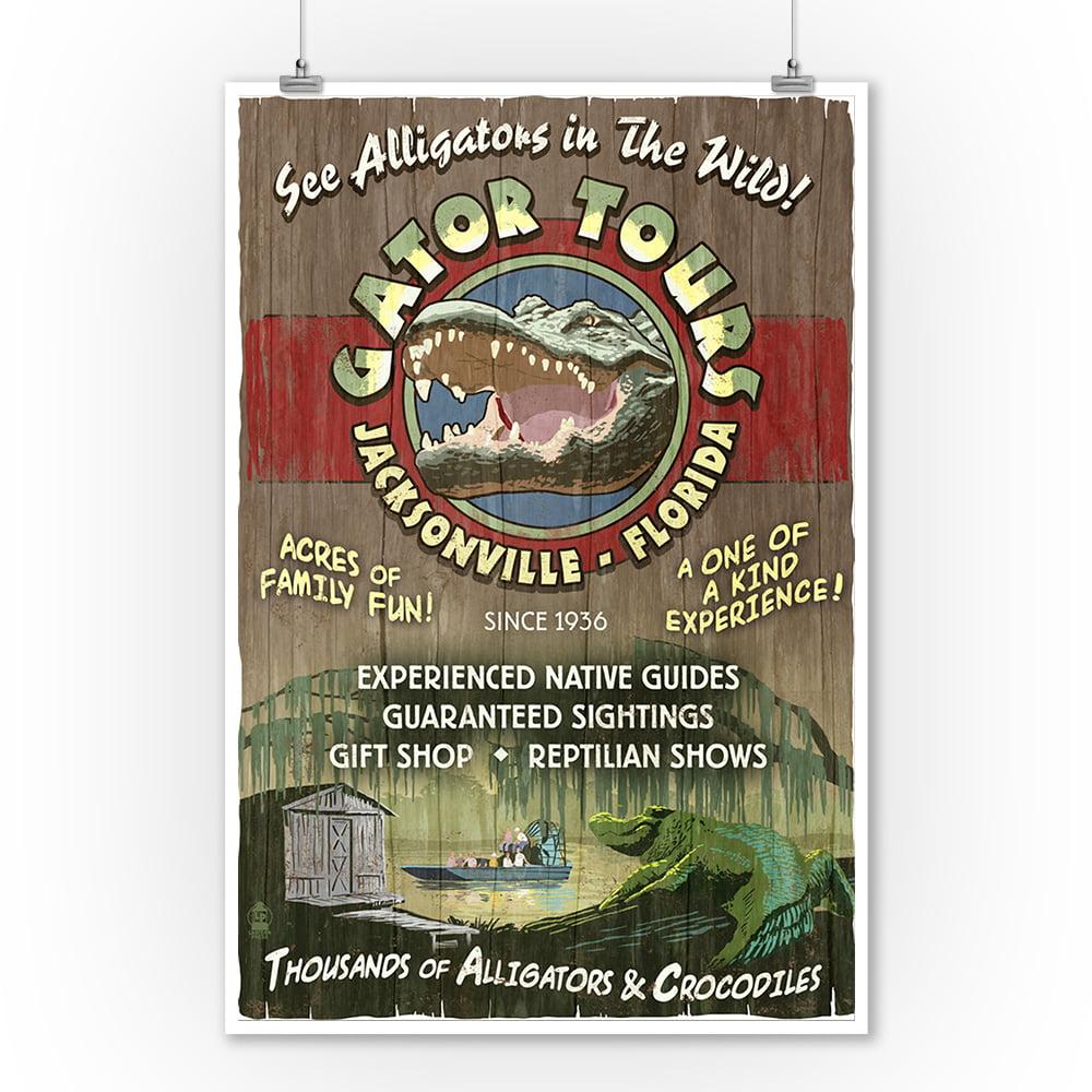 Alligator Tours Vintage Sign