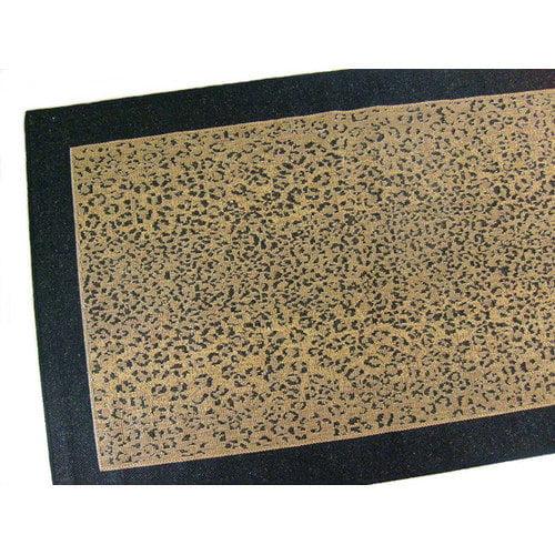 American Mills Leopard Black Indoor/Outdoor Area Rug