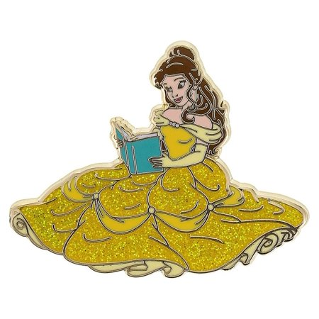 Disney Parks Princess Belle Glitter Pin New with Card Glitter Shamrock Pin