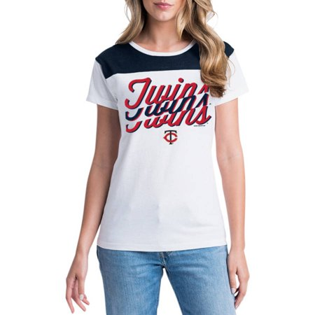 MLB Minnesota Twins Women's Short Sleeve White Graphic Tee