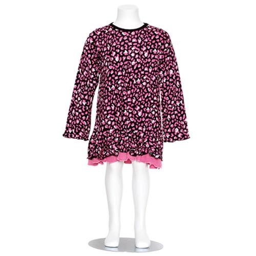 Danica and Dylan Toddler Girl Size 2T Black Pink Animal Print Dress