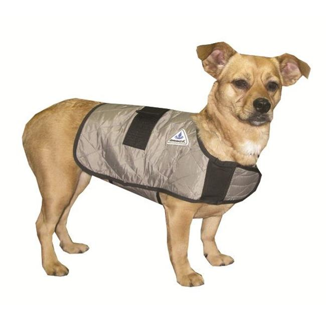 Techniche 8529MSilver Medium HyperKewl Evaporative Cooling Dog Coat - Silver