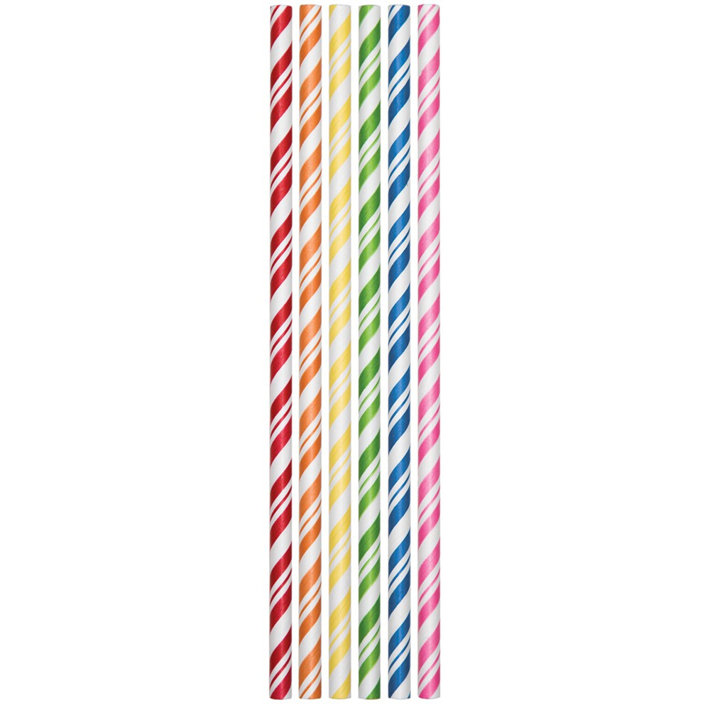 7.75 inch Assorted Paper Straws/Case of 144
