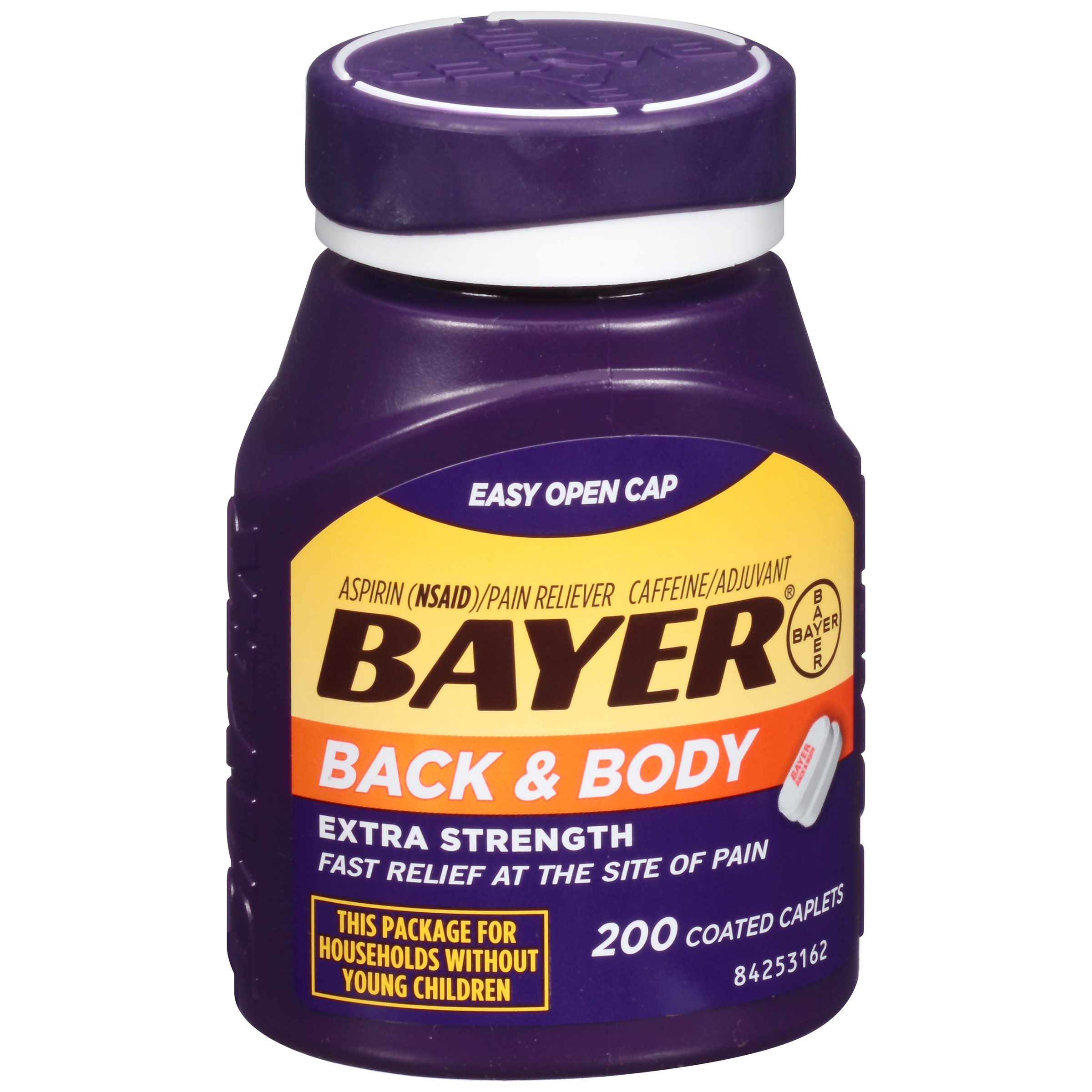 Bayer Back & Body Extra Strength Aspirin, 500mg Coated Tablets, 200ct