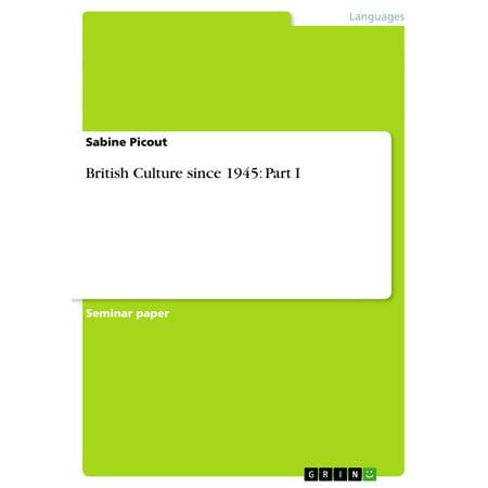 British Culture since 1945: Part I - eBook