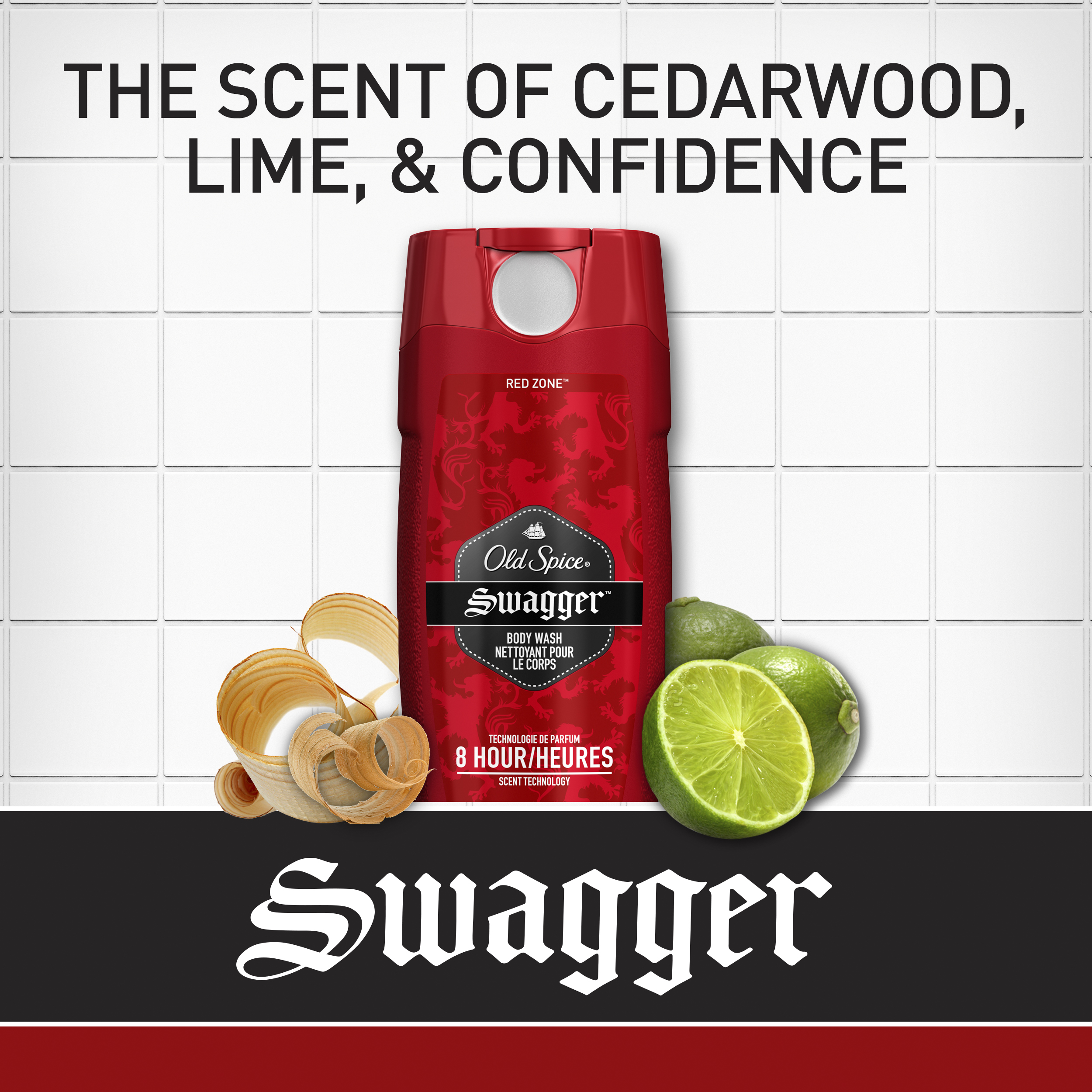 Old Spice Red Zone Swagger Body Wash 16 oz Pack of 2