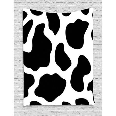 Phenomenal Cow Print Tapestry Hide Of A Cow With Black Spots Abstract And Plain Style Barnyard Life Print Wall Hanging For Bedroom Living Room Dorm Decor Caraccident5 Cool Chair Designs And Ideas Caraccident5Info