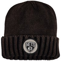 Brooklyn Nets Mitchell & Ness Current Logo Ribbed Knit Hat - Brown - OSFA
