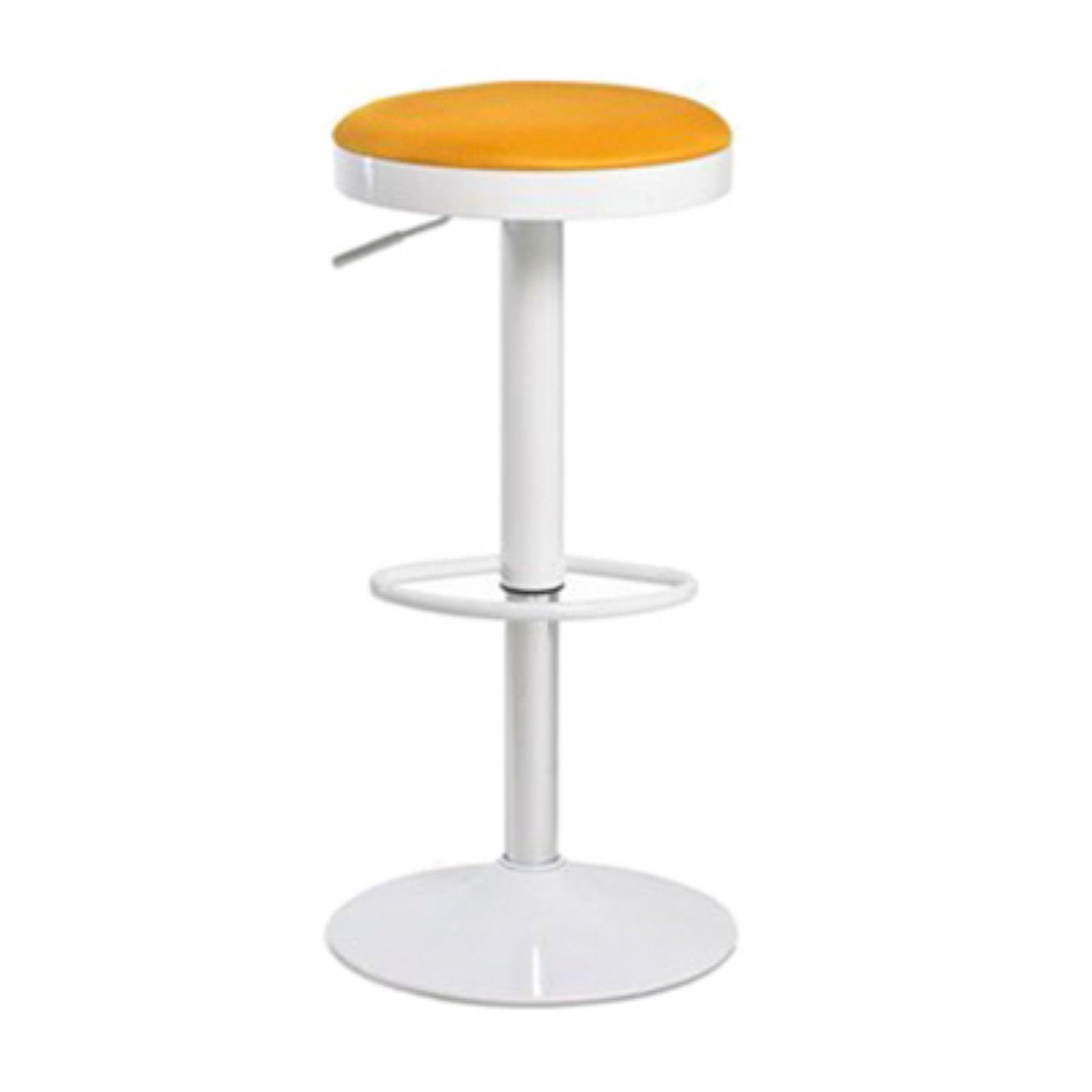 Image of Aeon Furniture Carrie Gas Lift Swivel Backless Bar Stools - Orange - Set of 2
