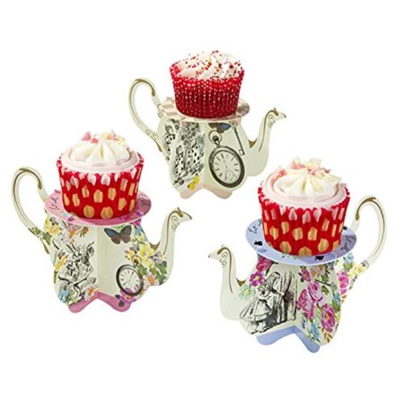 Talking Tables Alice In Wonderland Party Supplies | Cupcake Stand | Great For Mad Hatter Tea Party, Birthday Party And Baby Show