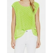 Two By Vince Camuto NEW Lime Green Polka Dot Women's Size XL Blouse