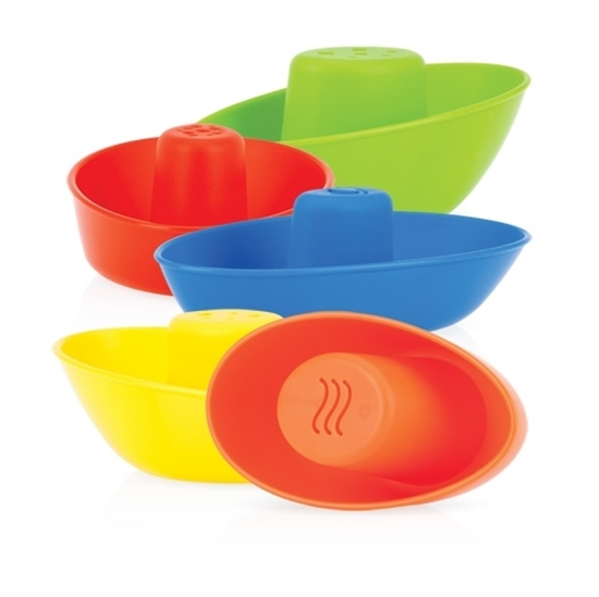 Nuby Stacking Bath Boats, 5 Pack