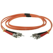 SF Cable ST-ST Duplex Multimode 50/125 Fiber Optic Cable, 1 meter