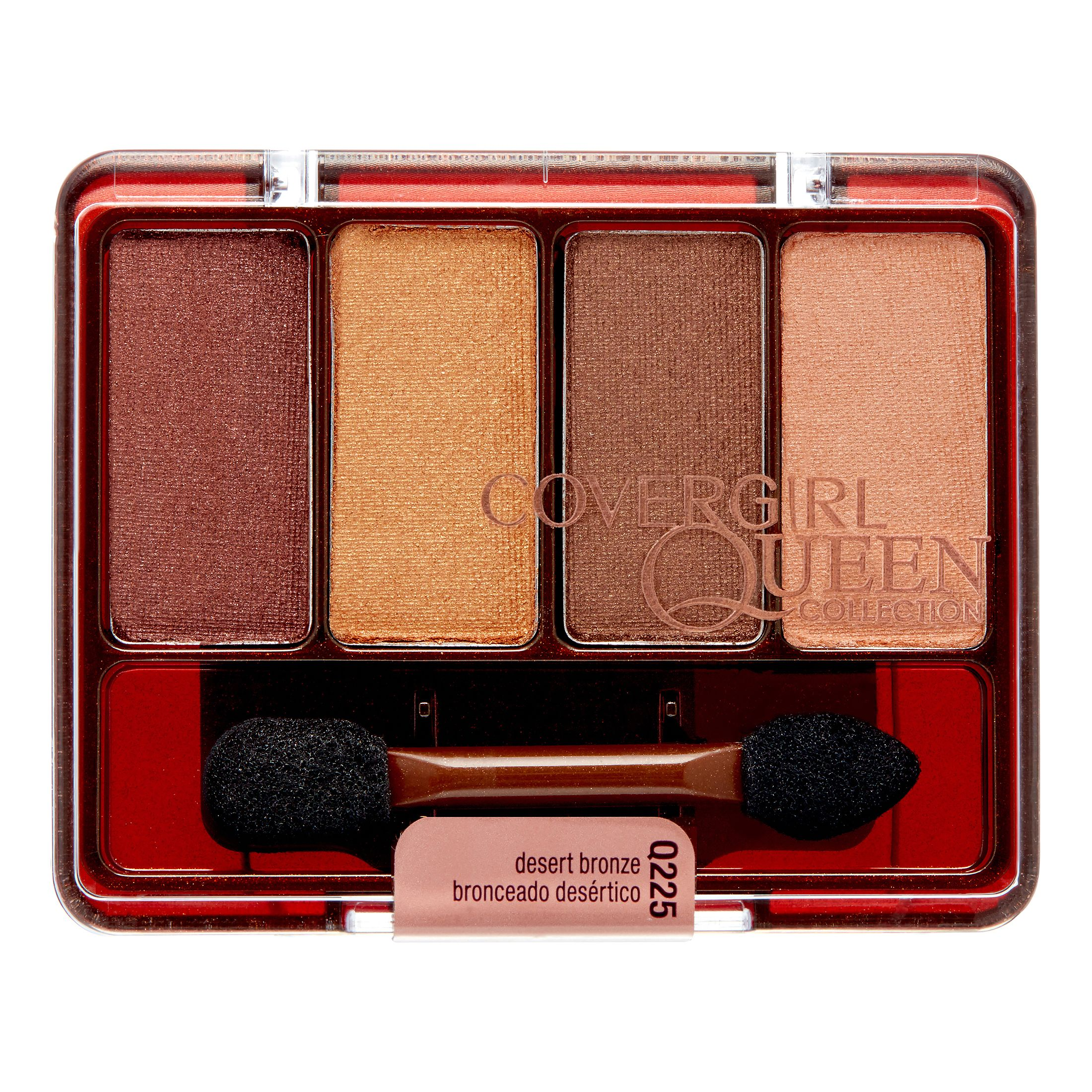 COVERGIRL Queen Collection Eyeshadow Quad, Q225 Desert Bronze