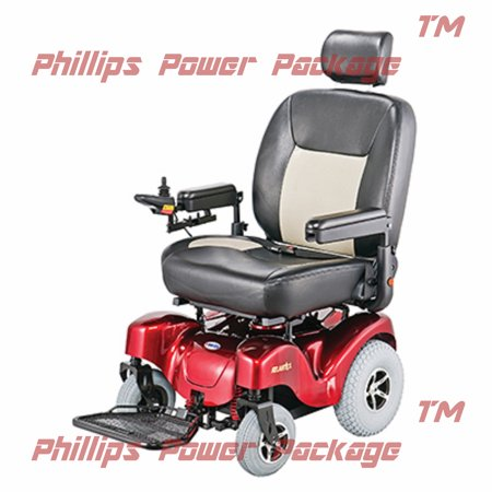 Merits   Atlantis   Bariatric Power Chair   24 W X 20 D   Red   Phillips Power Package Tm    500 Value