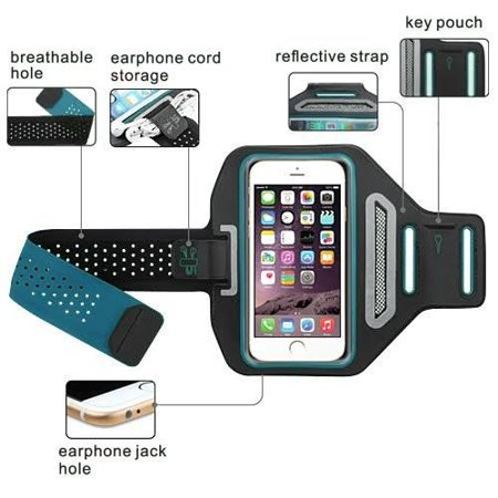 iPod Touch 6th Gen Case, Touch 5 Gen Case, Coverlab Multifunctional Outdoor Sports Armband Casual Arm Package Bag Cell Phone Bag Key Holder For iPod iTouch 5/iTouch 6 - Blue