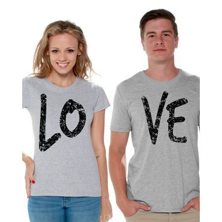 Awkward Styles Couple Shirts Love Couple Matching Shirts Love T Shirts for Couples Love Couple Matching Outfits Valentine's Day Gift for Couple Love Couple T-shirt Happy Valentines Day - Homecoming Couples Outfits