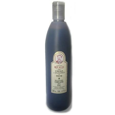 "Acetaia Reale Fig Dark Balsamic Glaze - 20 fl oz (600 mL) Italian ""Cream"" of Balsamic Vinegar with Fig"