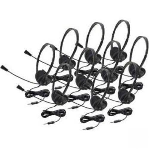 Califone Lightweight Personal Multimedia Stereo Headset (10 Pack)