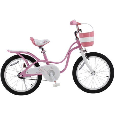 RoyalBaby 2017 newly-developed Little Swan Girl's Bike with basket, 18 inch with kickstand, gifts for kids