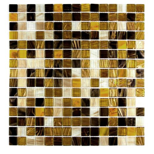 "Miseno MT-EARTH3/4SQ Earth - 3/4"" - Glass Visual - Wall Tile (Sold by Sheet)"