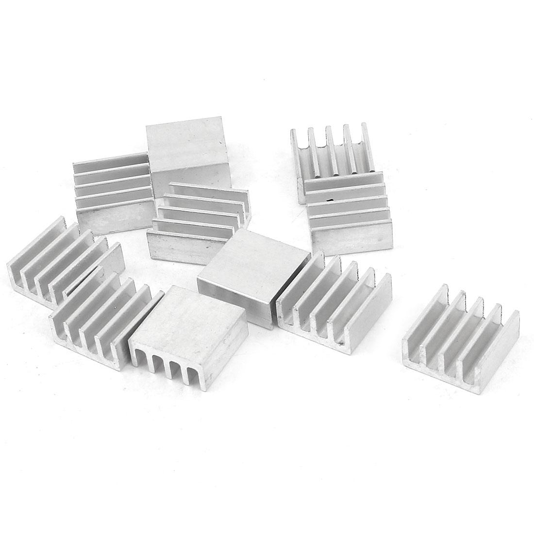 20 Pcs Silver Tone Aluminum Heat Sink Heatsink 11mm x 11mm x 5mm