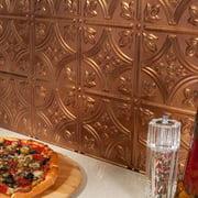 Fasade  Traditional Style #1 Antique Bronze Backsplash 18-inch x 24-inch Panel