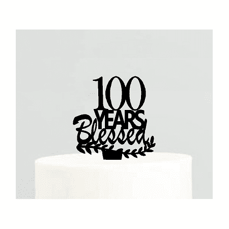100th Birthday / Anniversary Blessed Years Cake Decoration Topper - 100th Birthday Decorations
