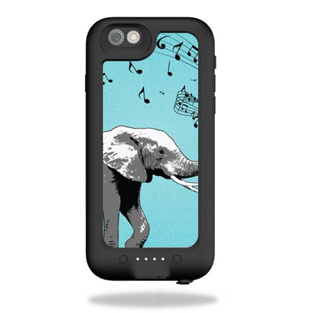 Skin Decal Wrap for Mophie Juice Pack H2PRO iPhone 6 case Musical Elephant