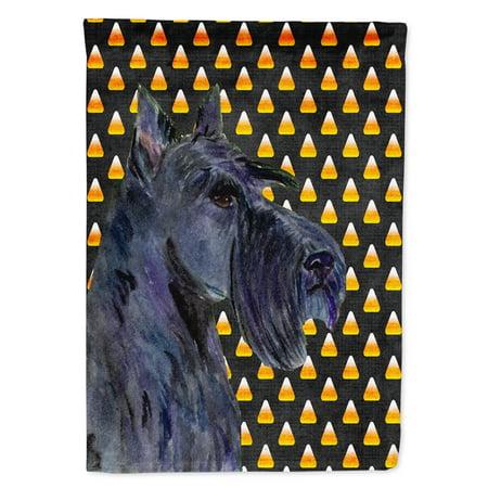 Scottish Terrier Candy Corn Halloween Portrait Garden Flag