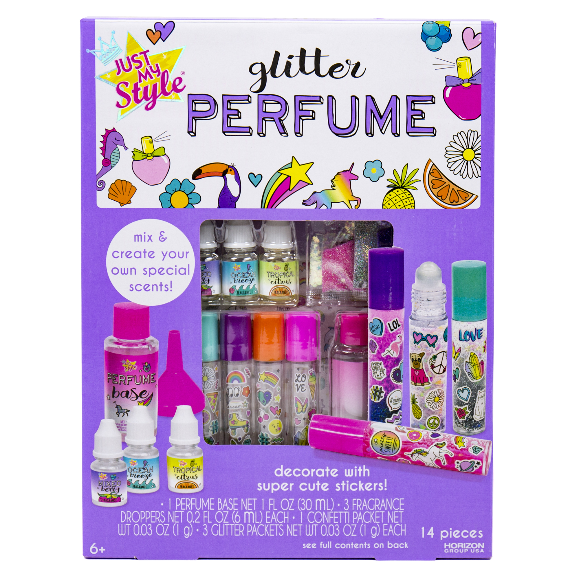 Horizon Group Just My Style Glitter Roller Perfume Kit, 1 Each