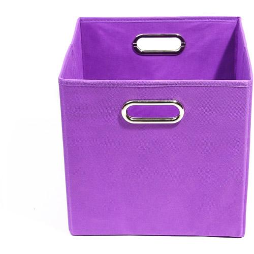Modern Littles Color Pop Folding Storage Bin, Solid Purple