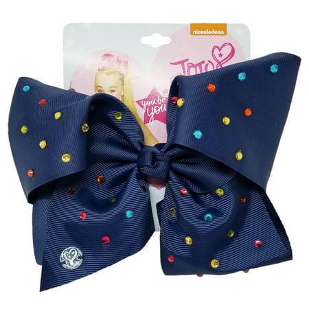 Nickelodeon signature navy w multi stones bow