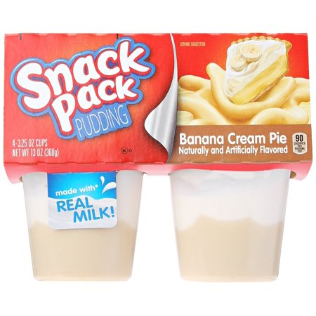 - Snack Pack Banana Cream Pie Pudding Cups, 4 Count