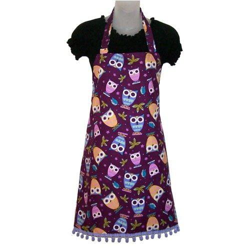 Sassy Cook'n Purple Peepers Women's Bib Style Apron