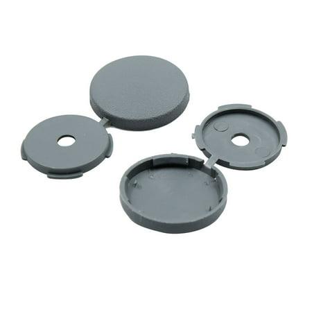 8 Pcs Gray 5mm Dia Nut Screw Bolt Cap Covers Interior Decoration for Car - image 2 of 4
