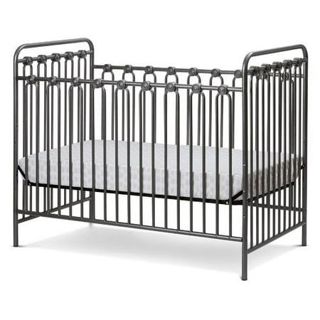 Napa 3 in 1 Convertible Full Sized Metal Crib in Pebble Grey - Napa 3 In 1 Convertible Full Sized Metal Crib In Pebble Grey