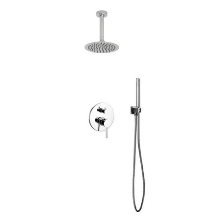 Kube Bath Aqua Rondo Diverter Shower Faucet With Metal Lever Handle