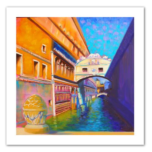 ArtWall 'Venezia Ponte di Sospiri' by Susi Franco Painting Print on Canvas